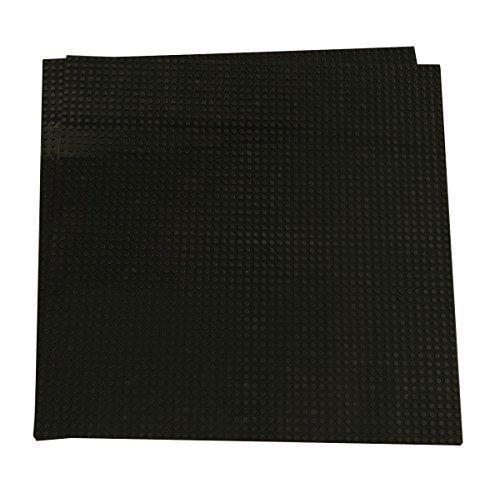 Strictly Briks Pack de 2 Bases para Construir - Compatible con Todas Las Grandes Marcas - 40 x 33,6 cm - Negro