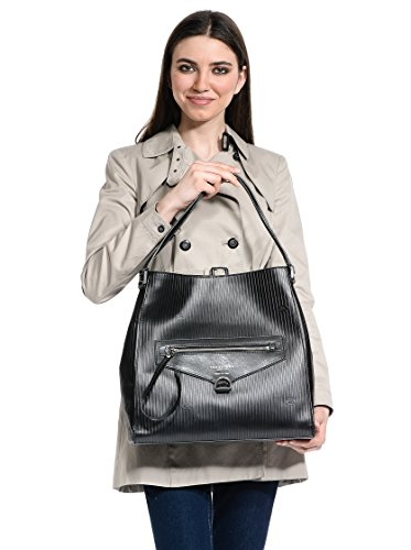 The Bridge Heritage Luxe Donna Shopper Leder 37 cm nero