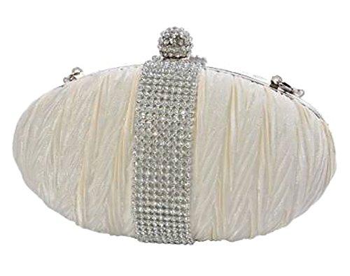 EyeCatch - Elegantes Damen Clutch Brauttäschchen Abendtasche Handtasche Nude