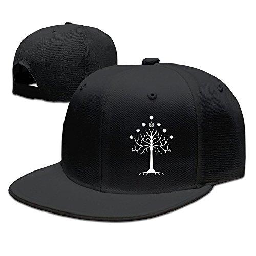 Herr der Ringe–Tree of Gondor Baseball Snapback Cap Schwarz, Herren, schwarz (Olive Cap Brim)