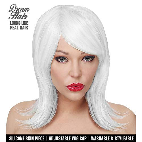 WIDMANN 02094Noemi Cosplay Dream Hair peluca, mujer, color blanco