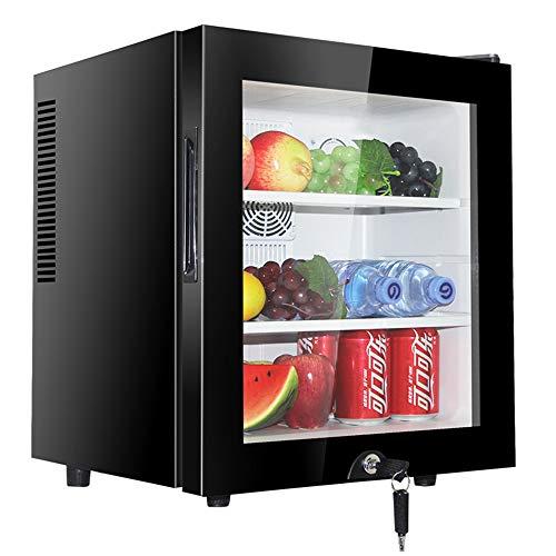 Schwarz Thermoelektrische Weinkühler (KKDWJ Bar Mini Kühlschrank Schwarz Still Weinkühlschrank Temperaturzonen 10-18 ° Weinkühler Weinkühlschrank Arbeitsplatte [Energieklasse A])