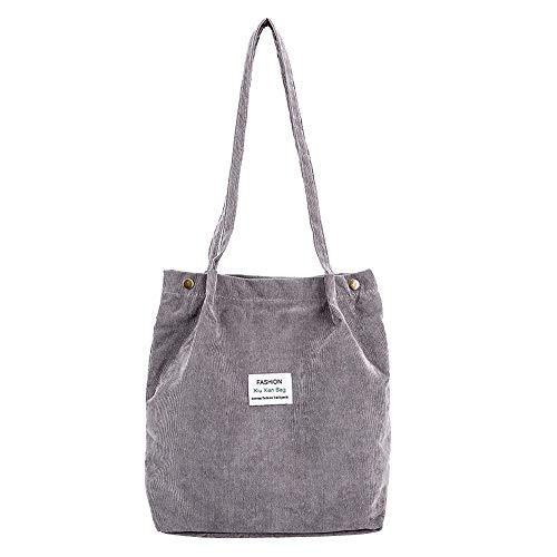 HCFKJ Tasche, Damen Canvas Handtaschen Vintage hochwertige weibliche Hobos einzelne Umhängetaschen (GY)