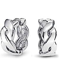 Bling Jewelry Sterling Silver Infinity Figure Eight Huggie Hoop Earrings