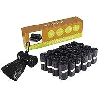 MOGOCO - Bolsas biodegradables con dispensador, Bolsas de residuos para Mascotas ecológicas, 25 Rollos (375 Unidades)
