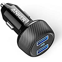 Anker PowerDrive 2 elite compact, 24 W, dual port car charger with PowerIQ Technology for Apple, Samsung, other iOS or Android phones and tablets