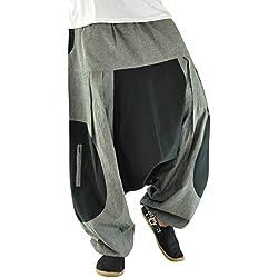 virblatt Pantalones cagados Corte Suelto para Hombres y Mujeres como Ropa Hippie y Pantalones Bombachos Estilo Harem M - XL – Freigeist LXL