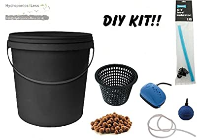 Bucket IWS Deep Water Culture DWC OxyPot Bubbler Hydroponic System Complete Kit