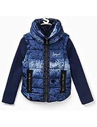 Abbigliamento it E Amazon Giacche Desigual Donna Cappotti Blu wpRxH0xfq
