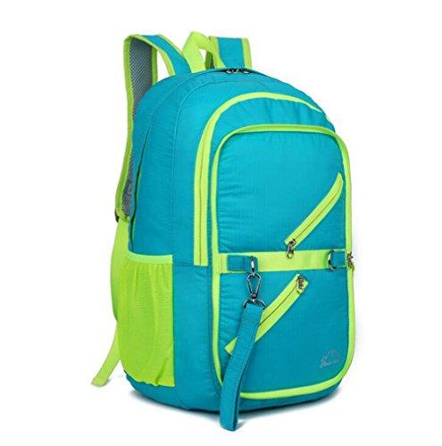 Wmshpeds Gli sport outdoor folding borsa a tracolla multifunzionale con grande capacità di piegatura zaino impermeabile ultra-light outdoor zaino pieghevole A