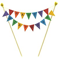 amazing buntings Rainbow Bunting Decoration Cake Topper with 4 Poles Adjustable Length 064 Premium Quality Happy Engagement