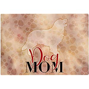Cadouri Frühstücksbrettchen DOG MOM mit Golden Retriever Glasschneidebrett Schneidebrettchen – 28,5 x 20 x 0,4 cm