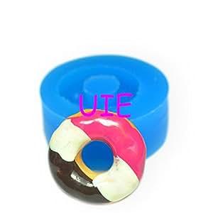053lbt Chocolat Donut en silicone souple–Moule en argile miniature Nourriture Faux Sweet Moule, Moule à Fimo Moules à biscuits