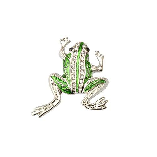 Neue Nette Kristall Frosch Form Brosche Clip Tier Schmuck Geschenke