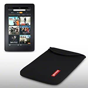 NEOPRENE POUCH WITH SHOCKSOCK LOGO FOR AMAZON KINDLE FIRE (NOT FIRE HD) - BLACK