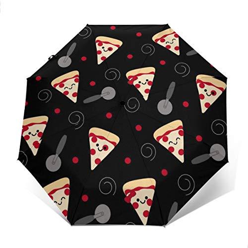 YONSOG Universal Travel Automatic Folding Umbrella Windproof Waterproof- Pizza Slicer Flexible Slicer