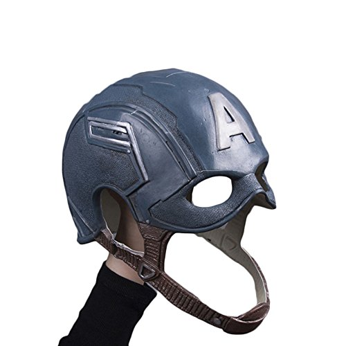 nihiug Captain America 3 Kapitän American Maske COS Halloween Helm Requisiten,Latex-OneSize (America Hat Captain)