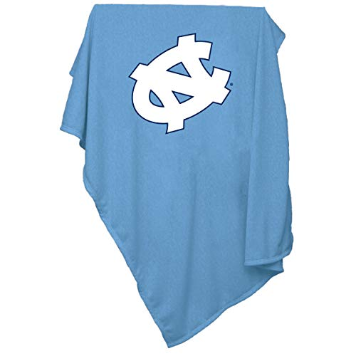 Collegiate 137,2x 213,4cm Sweatshirt Decke mit Tackle Twill Patch Logo, Unisex, 185-74, North Carolina Tar Heels, Size 84