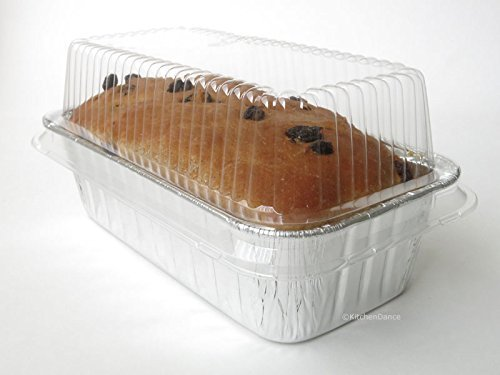 Clear Dome Lid for 2 lb. Foil Bread Loaf Pan 50 / Pack by Durable Packaging -