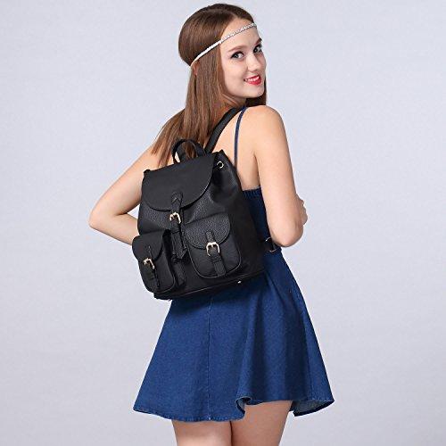 Realer Designer Cartables et sacs ¨¤ main pour les Teen Girls avec Strap Noir