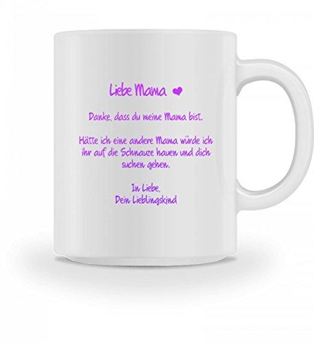 Hochwertige Tasse - Geschenk Muttertag Mama Hätte ich eine andere Mama würde ich ihr auf die Schnauze hauen