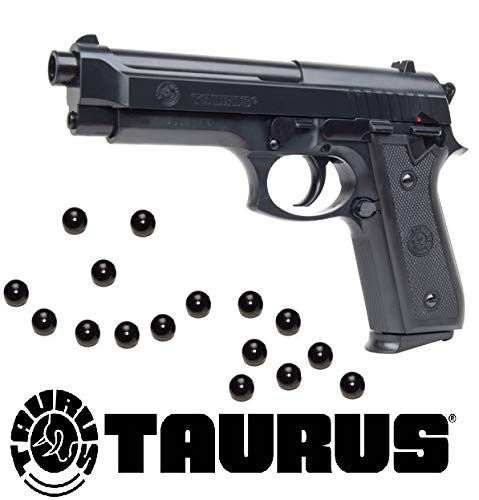 KOSxBO® Softair Pistole Taurus PT92 Federdruck inklusive 6mm Premium BB Munition 0,5 Joule Softair ab 14 Jahren (Metall-airsoft Bb Gun)