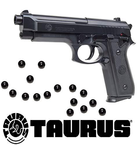 KOSxBO® Softair Pistole Taurus PT92 Federdruck inklusive 6mm Premium BB Munition 0,5 Joule Softair ab 14 Jahren (Beretta Luftpistole)
