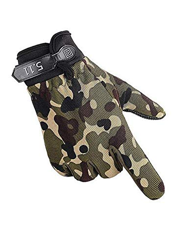Bravoy Touchscreen Fahrradhandschuhe Winter Handschuhe Damen Herren Rutschfest Winddicht Army Gloves Outdoor Sport für Reiten Laufen Skifahren Wandern Camping (Tarnung) -