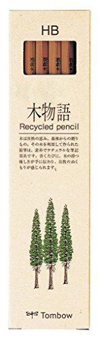 Tombow LA-KEA-HB Hochwertiger, recycelter Bleistift Härtegrad HB, 12-er Set