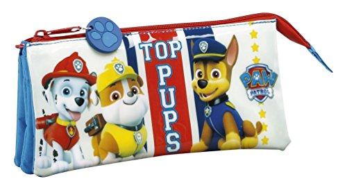 Safta Estuche Escolar Paw Patrol «Top Pups» Oficial 220x30x100mm