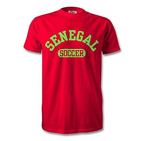 sénégal Soccer T-shirt rouge/vert - Rouge - XX-Large