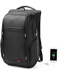 Shuzhen,Mochila para ordenador con carga USB, antirrobo, bolsa impermeable para hombres