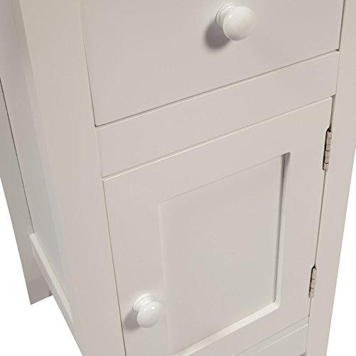 Woodluv Slimline Drawer and Cupboard Bedside Table Cabinet Wooden Storage Unit ... & Woodluv Slimline Drawer and Cupboard Bedside Table Cabinet Wooden ...