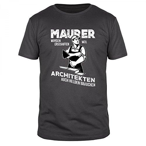 FABTEE Maurer Wurden Erschaffen, Weil Architekten Auch Helden Brauchen - Herren Organic Cotton T-Shirt - Verschiedene Farben - Größen S-4XL