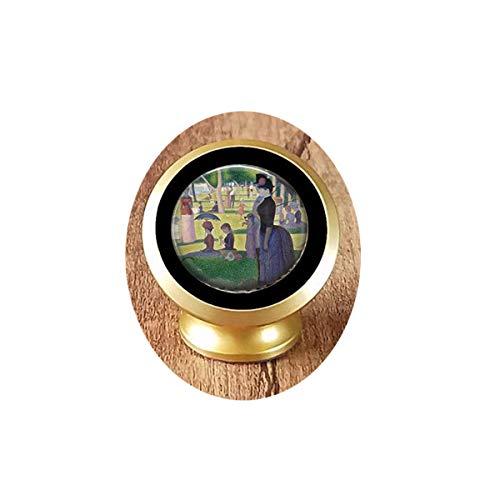 bab Georges Seurats A Sunday Afternoon on The Island of The Grande Jatte-Classic Art Lover Gift Seurat Anhänger Seurat Key Magnetische KFZ Handyhalterung Halterung 360 Grad drehbar vom Armaturenbrett -
