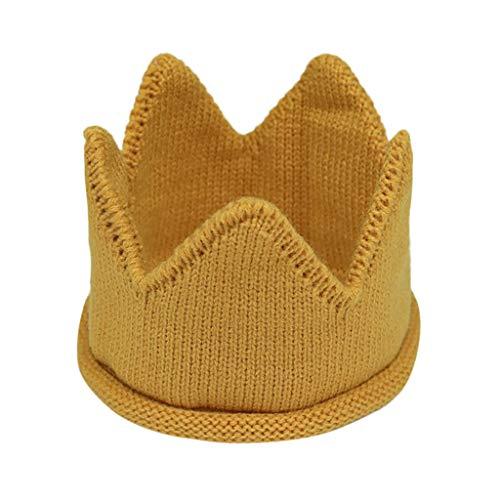 Yvelands Neugeborene Kinder Caps Baby Crown gestrickt Geburtstag -