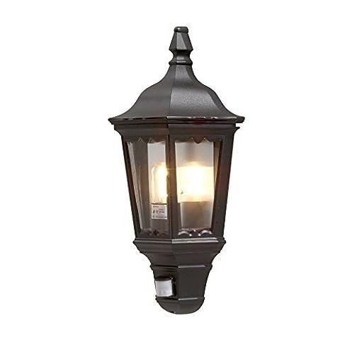 Konstsmide Basic Firenze Flush Wall Light with PIR Motion Sensor