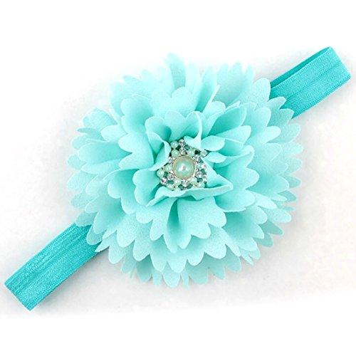 Baby Children Toddler Pearl Crystal Hair Hand Headband Headwear Fabric Rhinestone Soft Infant