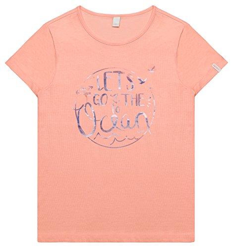 Peach Mädchen-shirt (ESPRIT Mädchen T-Shirt RL1017502, Rosa (Peach 304), 134 (Herstellergröße: XS))