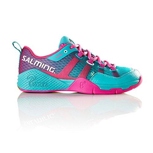 Salming Women's Kobra Indoor Squash Shoes, Turquoise, UK8