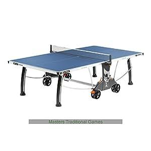 Cornilleau Outdoor-Tischtennisplatte Sport 400M, wetterfest, mit Rollen, blau