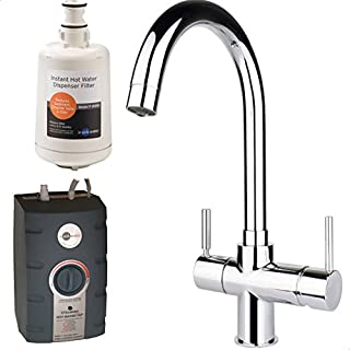 InSinkErator 3 in 1 Kitchen Tap 45153 + Tank Boiling, Standard Hot & Cold Chrome