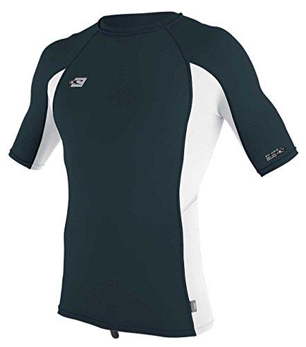 O';Neill Premium - Skin Short Sleeve Schnell Dry Leicht Rash Vest Top Slate White - UV - Sonnenschutz und SPF - Eigenschaften -