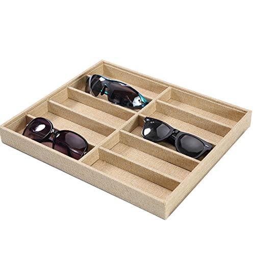 JUSTDOLIFE Sonnenbrille Aufbewahrungsbox Einfache Hölzerne Sonnenbrille Organizer Brille Display Box