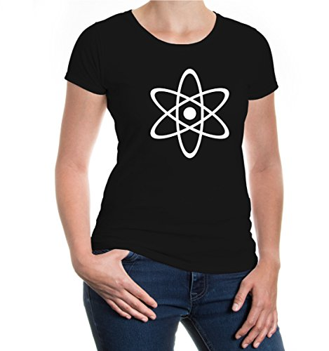 buXsbaum® Girlie T-Shirt Atommodell Black-White