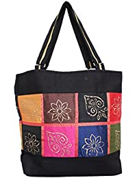 Serene Work Bag Handmade Traditional Spacious Shoulder Bag With Multi Color Patch Work Double Zipper Hand Bag... - B077Q2KQK8