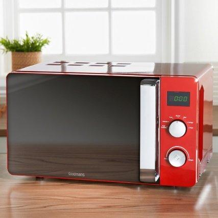 Stilvolle Goodmans Digital Mikrowelle 20l rot groß 20Liter Kapazität groß 20Liter pajee TM -