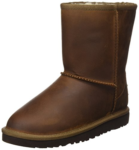 Ugg Classic Short Leather, Unisex-Kinder Kurzschaft Stiefel, Braun (Chestnut), 31 EU (Stiefel Classic Chestnut)