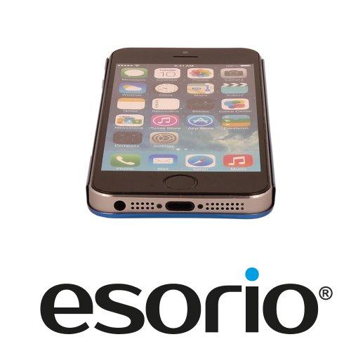 Esorio ® papier aluminium métal bumper pour apple iPhone 5/5S bleu