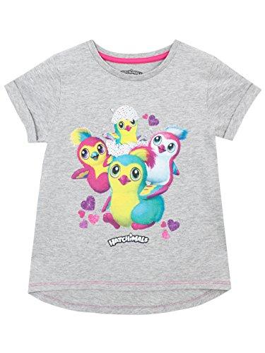 Hatchimals T-Shirt For Girls Gray Penguin 5-6 Years